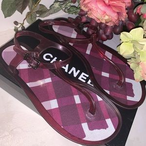 Auth🌺 Burberry Nova- Check Jelly Sandals